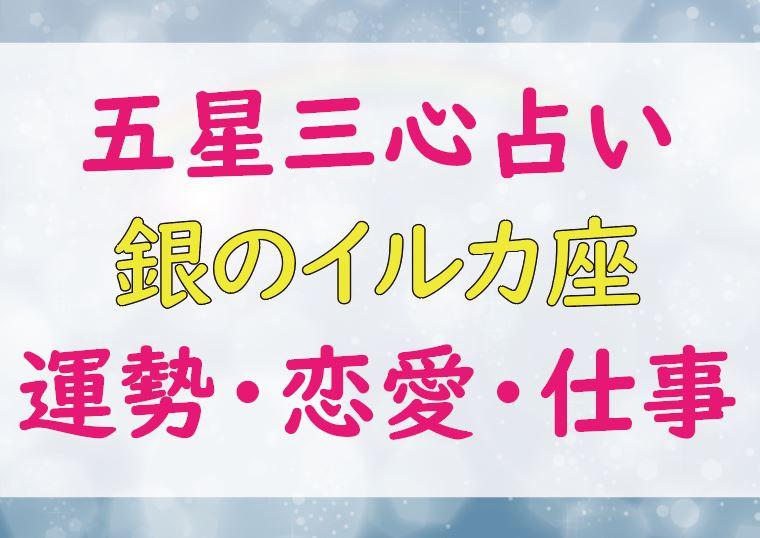 銀のイルカ座_運勢_恋愛_仕事_芸能人
